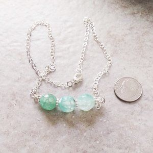 Nile Green - Mint - DragonVein Agate Bar Necklace